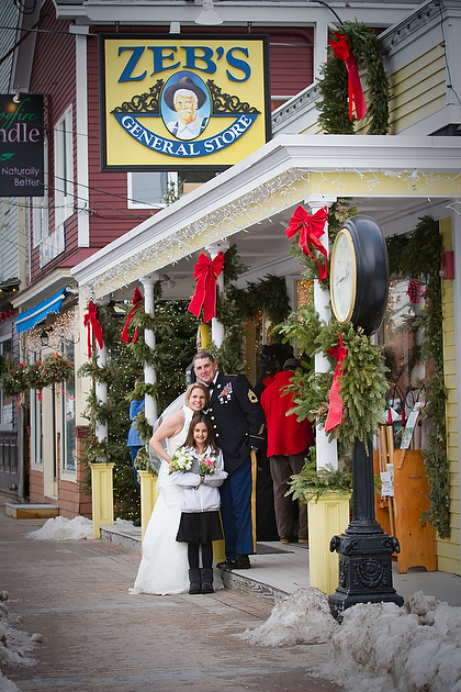 NH Winter Elopement at Zebs General Store